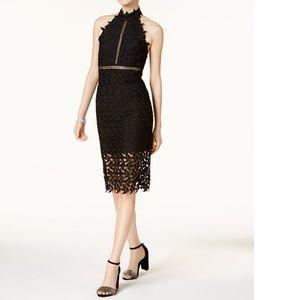 NWT Bardot Gemma Lace Halter Dress S